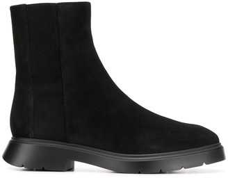 Stuart Weitzman almond toe ankle boots
