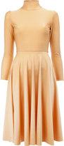 Balenciaga pleated skirt midi dress