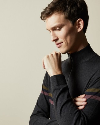 Ted Baker Half Zip Funnel Neck Polo Jumper