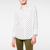 Paul Smith Women's White 'Split Dot' Print Rayon Shirt