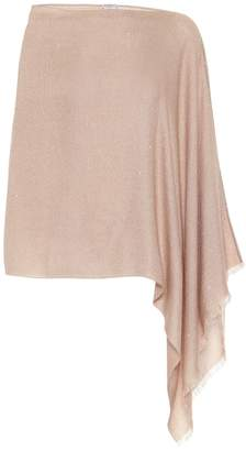 Brunello Cucinelli Embellished silk, mohair and cashmere-blend poncho