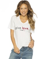 Peace Love World Give Love I am Nurse V-Neck Tee