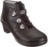 Alegria Leather Ankle Boots with Bungee Detail - Heidi