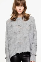 Zadig & Voltaire Zadig Voltaire Zadig Voltaire Mark Camou Deluxe Cashmere Sweater