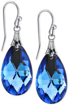 2028 Silver-Tone Blue Faceted Teardrop Earrings, a Macy's Exclusive Style