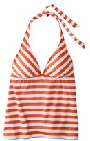 Mossimo Women's Mix and Match Stripe Tankini Swim Top -Mandarin