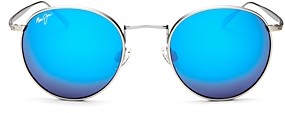 Maui Jim Women's Nautilus Polarized Mirrored Round Sunglasses, 50mm
