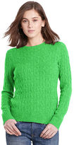 Polo Ralph Lauren Slim Cable Cashmere Sweater