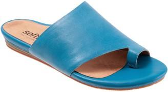 SoftWalk Leather Comfort Toe Ring Slide Sandals- Corsica
