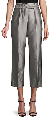 Giorgio Armani Silk Cotton-Blend Cropped Pants