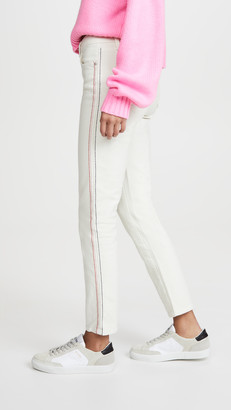 Sundry Slim Straight Embroidered Jeans