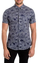 7 Diamonds Men's Clarity Print Woven Shirt