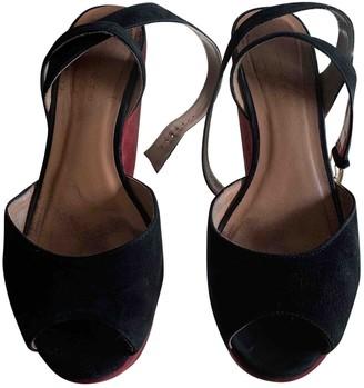 Sandro Burgundy Velvet Heels