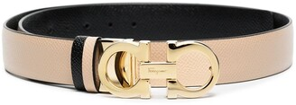 Salvatore Ferragamo Gancini textured buckle belt