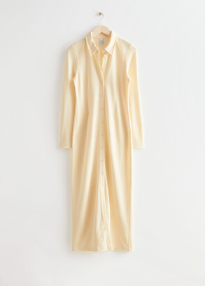 And other stories Collared Maxi Shirt Dress