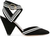 Nicholas Kirkwood striped detail pumps - women - Calf Leather/Kid Leather - 37