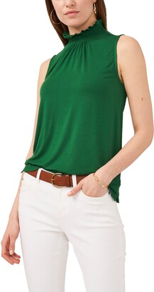 Vince Camuto Smocked Neck Sleeveless Top
