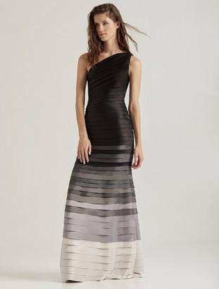 Halston Ombre Strip Gown