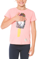 Desigual Peach Sequin Popsicle Crewneck Tee - Toddler & Girls