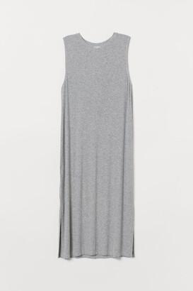 H&M Sleeveless Jersey Dress - Gray