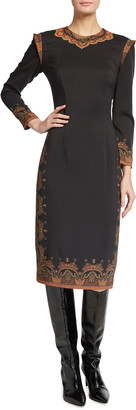 Etro Wool Crepe Paisley-Print Dress
