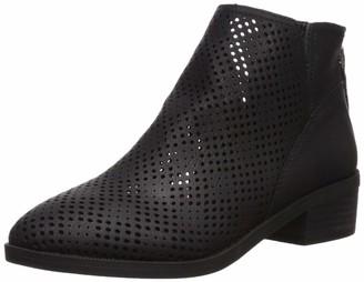 Madden-Girl Women's Tally Ankle Boot Black Nubuck 7.5 M US