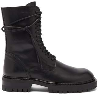 Ann Demeulemeester Lace-up Leather Boots - Womens - Black