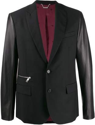 John Richmond contrast sleeved blazer