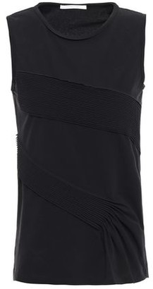 Helmut Lang Pintucked Cotton-blend Jersey Tank