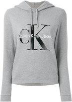 Calvin Klein Jeans logo print hoodie - women - Cotton - S