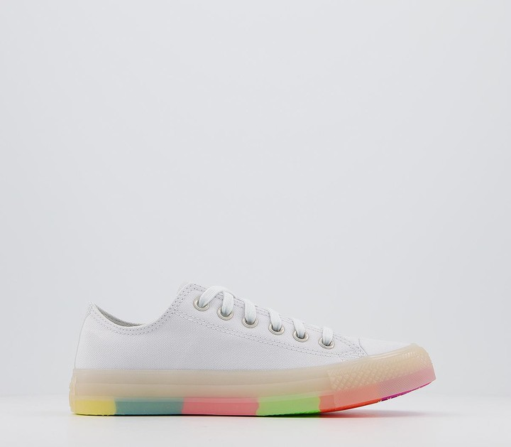 Converse All Star Low Trainers Photon Dust Multi Neon Colour Block Exclusive