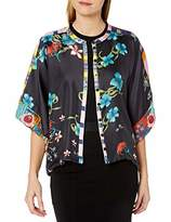 Johnny Was Women's Silk Printed and Reversible Cropped Shrug