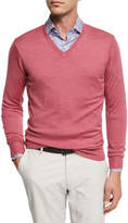 Peter Millar Crown Soft Merino/Silk Wool V-Neck Sweater