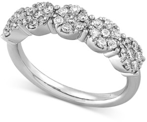 Forever Grown Diamonds Lab Created Diamond Cluster Statement Ring (3/4 ct. t.w.) in Sterling Silver