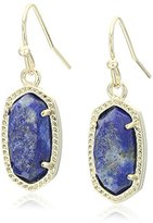 Kendra Scott Signature Lee Earrings in Gold Plated and Raw Cut Lapis