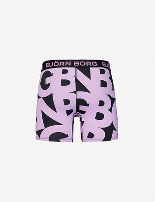 Bjorn Borg Pack of three printed perfect-fit jersey trunks