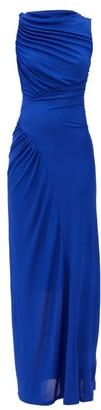 Atlein - Gathered Stretch-jersey Maxi Dress - Blue