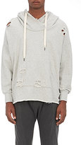 NSF Men's Distressed Cotton Terry Hoodie-LIGHT GREY