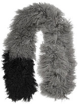 Karl Donoghue Two-Tone Shearling Scarf