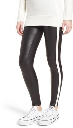 Spanx Side Stripe Faux Leather Leggings
