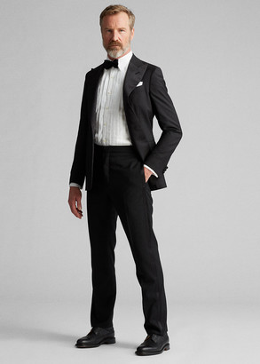Ralph Lauren Slim Fit Wool Tuxedo Trouser