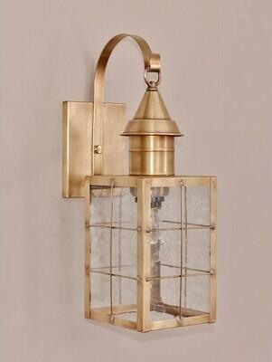 Breakwater Bay Piatt Outdoor Wall Lantern Color: Antique Bronze, Glass Type: Clear