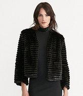 Lauren Ralph Lauren V-Neck Bracelet Sleeve Faux-Shearling Jacket