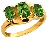 Gem Stone King 1.65 Ct Genuine Oval Tourmaline Gemstone 14k Yellow Gold Ring