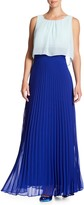 Sangria Accordian Pleated Maxi Dress