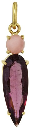 Irene Neuwirth One-Of-A-Kind Pink Opal and Pink Tourmaline Teardrop Charm - Yellow Gold