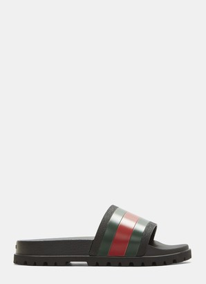 Gucci Colour Block Stripe Slides
