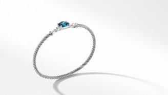 David Yurman Petite Wheaton Bracelet With Hampton Blue Topaz And