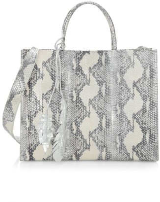 Nancy Gonzalez Medium Emma Snakeskin & Crocodile Tote
