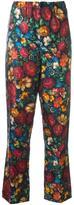Gucci floral print trousers - women - Silk - 46